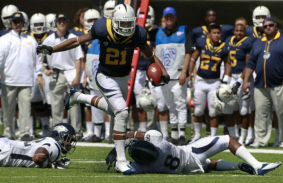 Cal running back Keenan Allen breaks free for a 39-yard touchdown in the 3rd quarter of the Bears' 31-14 loss to the Nevada Wolfpack at the renovated Memorial Stadium in Berkeley, Calif. on Saturday, Sept. 1, 2012. Photo: Paul Chinn, The Chronicle