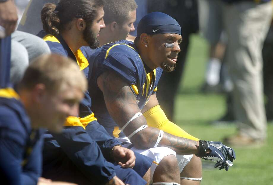 "Cal safety Michael Lowe, a fifth-year senior from Maryland, is three classes shy of getting his degree in legal studies. ""I'll be done in the fall,"" he said. Photo: Michael Macor, The Chronicle"