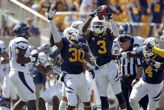 Kameron Jackson, (3) celebrates a second half fumble as the California Bears lose to the University of Nevada 31-24 at  the newly renovated Memorial Stadium on Saturday September 1, 2012, in Berkeley, Calif. Photo: Michael Macor, The Chronicle