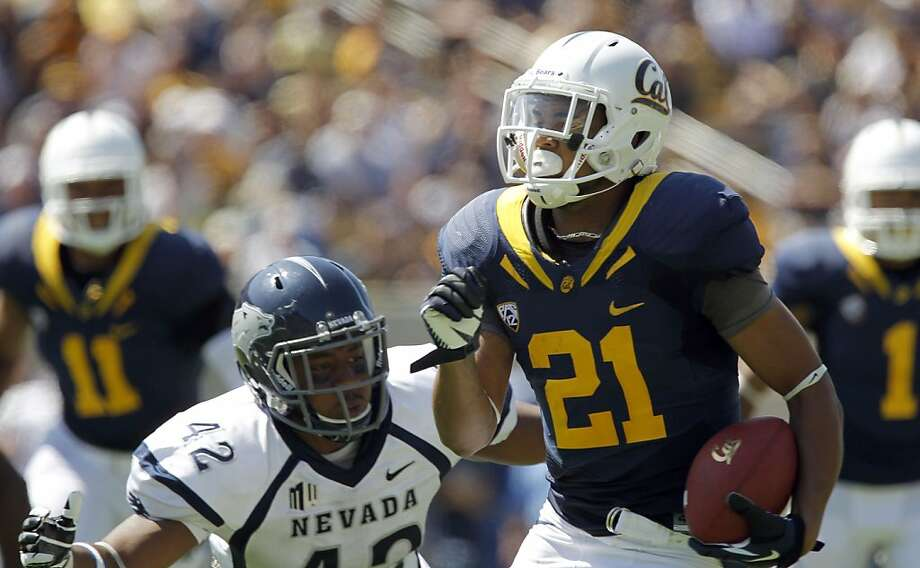 Cal's Keenan Allen, (21) races to the end zone on a 39 yard touchdown run, as the California Bears lose to the University of Nevada 31-24 at the newly renovated Memorial Stadium on Saturday September 1, 2012, in Berkeley, Calif. Photo: Michael Macor, The Chronicle