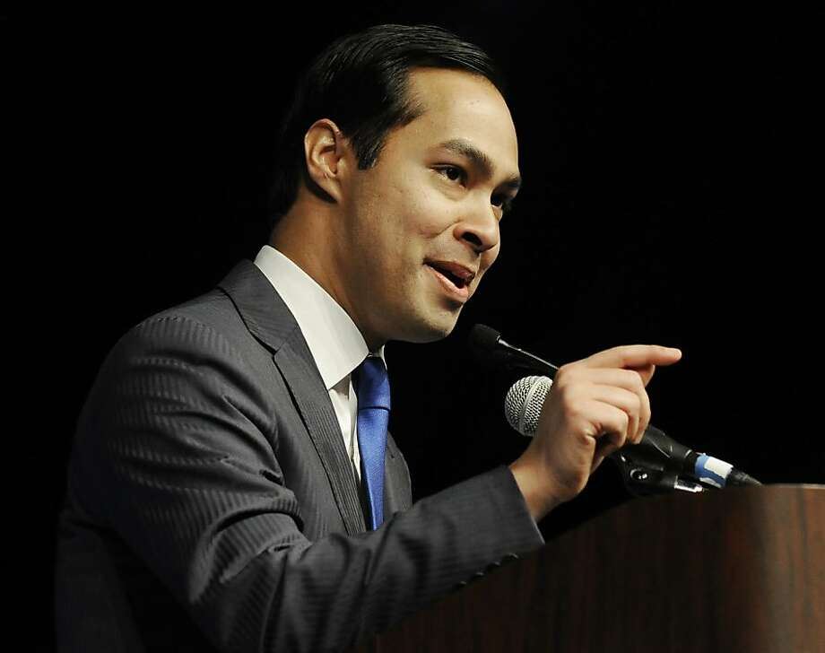 Julian Castro, San Antonio's mayor, gives the keynote address at the Texas Democratic Convention in Houston in June. Photo: Pat Sullivan, Associated Press