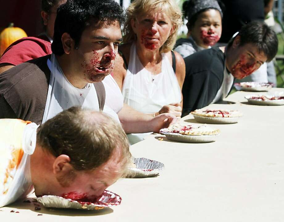 14.  Salem, Ore. Pie eating always makes a prospective partner seem so much more alluring, doesn't it? Photo: Kobbi R. Blair, Associated Press