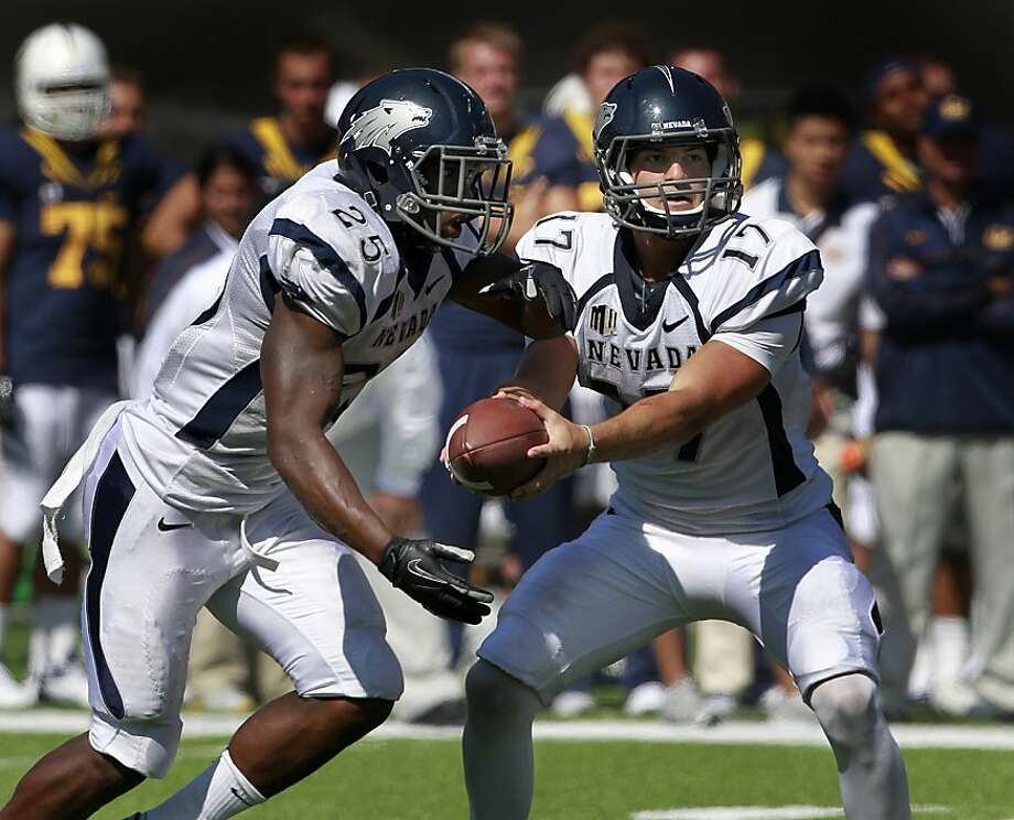 Nevada running back Stefphon Jefferson (25) and quarterback Cody Fajardo (17) together amassed more than 450 yards against Cal in the Bears' 31-14 loss to the Nevada Wolfpack at the renovated Memorial Stadium in Berkeley, Calif. on Saturday, Sept. 1, 2012. Photo: Paul Chinn, The Chronicle
