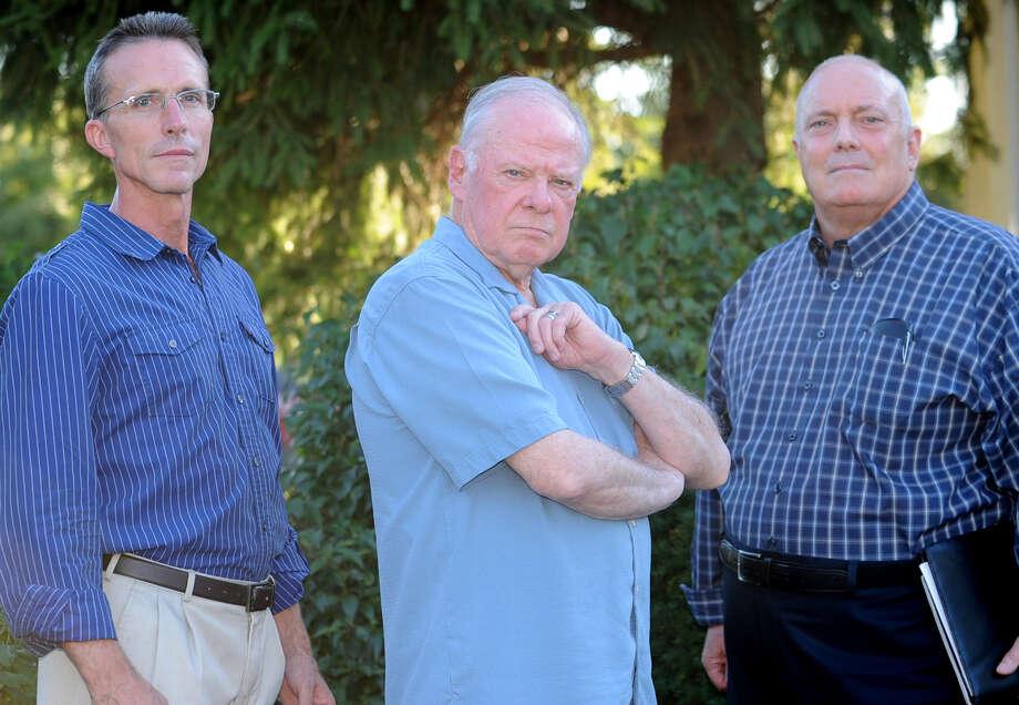 From left, Dwight Jenkins, Don Johnson and Ray Mooney on Wednesday, Aug. 29, 2012 in East Greenbush, N.Y. (Lori Van Buren / Times Union) Photo: Lori Van Buren