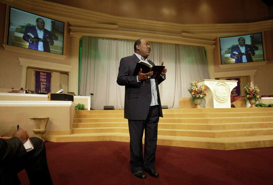 "Bishop I.V. Hilliard says becoming ""a teacher instead of a high-emotional preacher"" helped him find fulfillment. Photo: Melissa Phillip / © 2012 Houston Chronicle"
