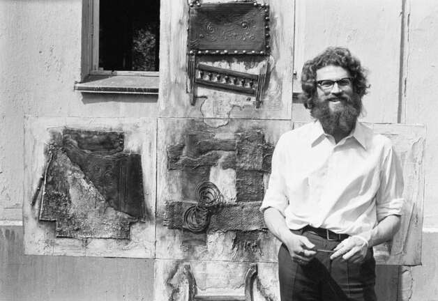 Painter Yevgeny Rukhin in Moscow, 1972. With a reddish-brown wave of hair and disheveled beard, Rukhin was said to have possessed a fondness for vodka shots chased by pickles. Photo: Courtesy/Igor Palmin