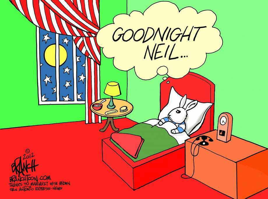 Goodnight Neil ... Photo: John Branch, Branchtoon.com