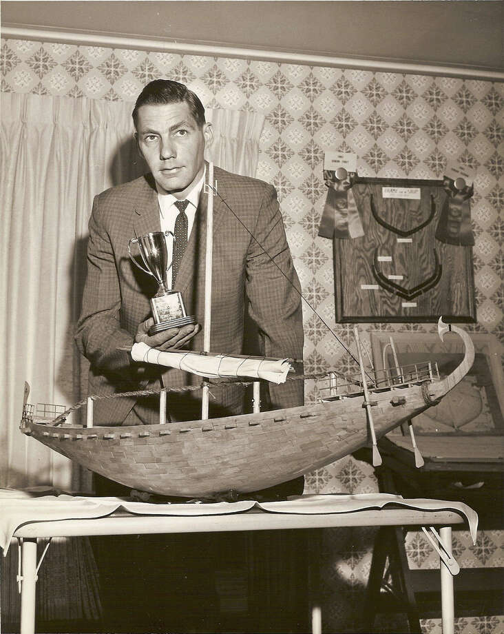 In 1963, J. Richard Steffy's model of an Egyptian ship won Best of Show in a county hobby fair in Pennsylvania. Many of his later models were destroyed as part of his research. (Photo courtesy of the Reading Eagle) Photo: Courtesy Of The Reading Eagle / Photo courtesy of the Reading Eagle