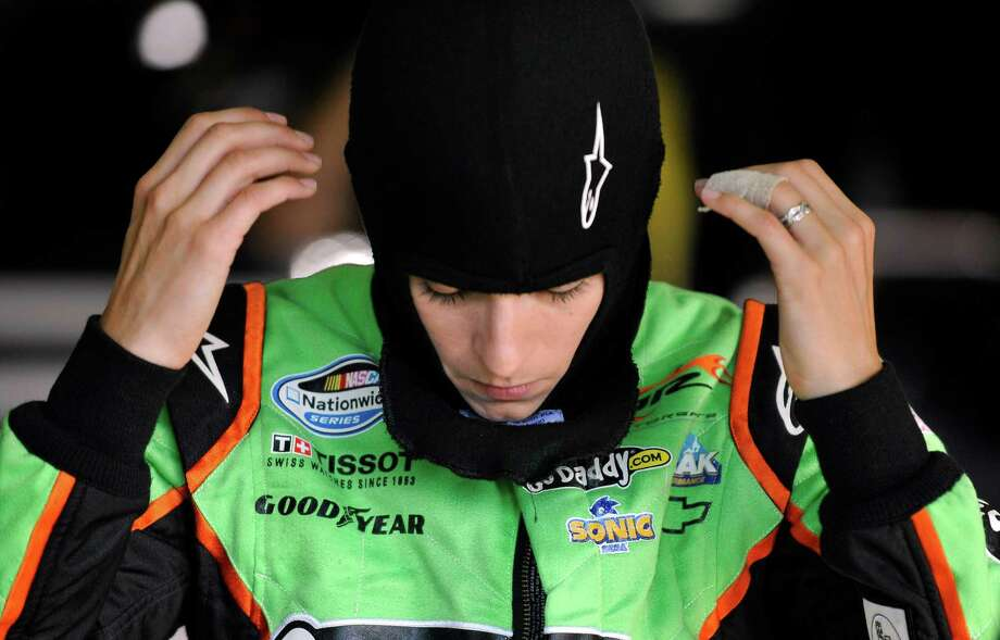Danica Patrick gets ready to practice for the NASCAR Nationwide Series auto race at Atlanta Motor Speedway, Saturday, Sept. 1, 2012, in Hampton, Ga. (AP Photo/Rainier Ehrhardt) Photo: Rainier Ehrhardt