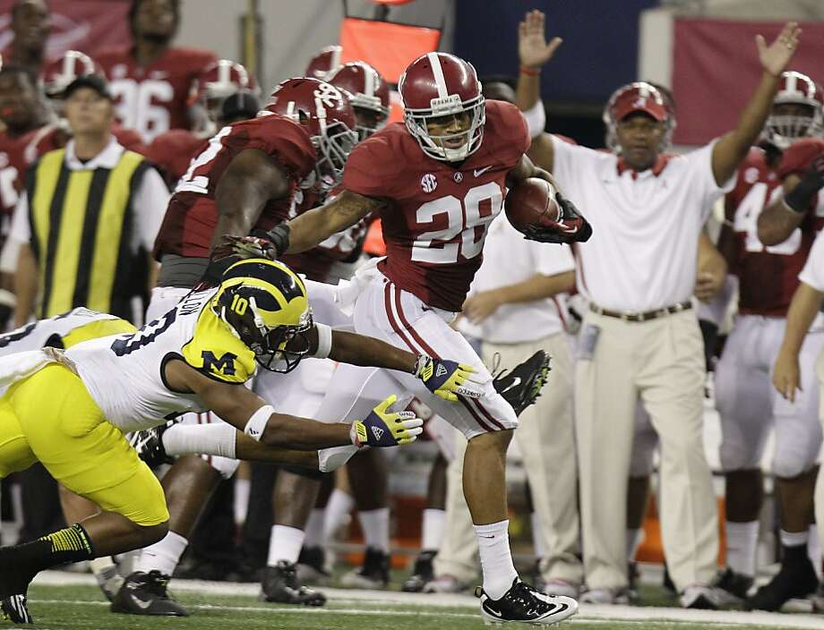 Dee Milliner deflected four passes in the first half and came up with an interception as Alabama's defense picked up where it left off last season. Photo: LM Otero, Associated Press