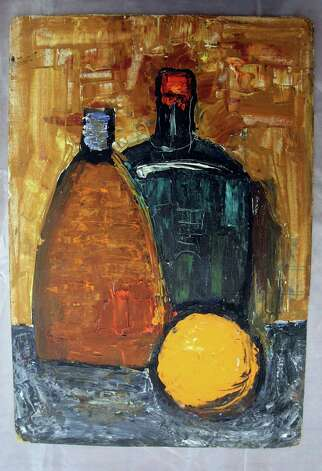 Still Life, 1966, mixed media on hardboard.  Painting by Yevgeny Rukhin. Photo: Courtesy Photo / ©SAN ANTONIO EXPRESS-NEWS