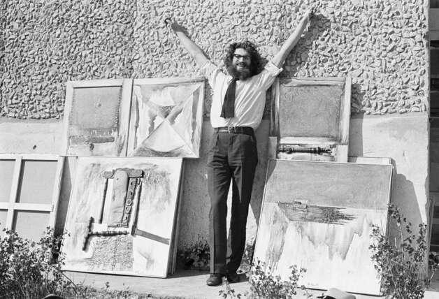 Painter Yevgeny Rukhin in Moscow, 1974. With a reddish-brown wave of hair and disheveled beard, Rukhin was said to have possessed a fondness for vodka shots chased by pickles. Photo: Courtesy Photo, Igor Palmin