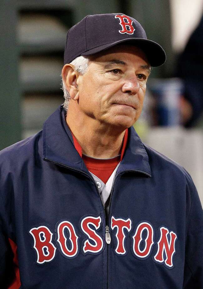 Boston Red Sox manager Bobby Valentine watches the game against the Oakland Athletics in the seventh inning of a baseball game Saturday,  Sept. 1, 2012 in Oakland, Calif. Oakland won 7-1. (AP Photo/ Tony Avelar) Photo: Tony Avelar