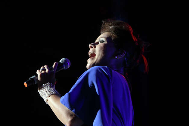 Olga Tanon performs at the Alamodome during Festival People en Espanol, September 1, 2012. (JENNIFER WHITNEY) Photo: JENNIFER WHITNEY, Special To The Express-News / © Jennifer Whitney