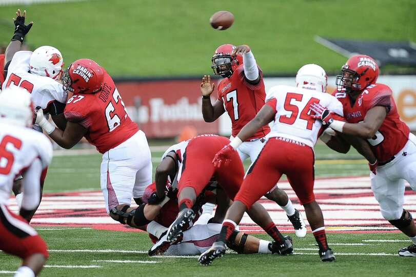 Football game between Lamar University and Louisiana-Lafayette at Lafayette on Saturday, September 1