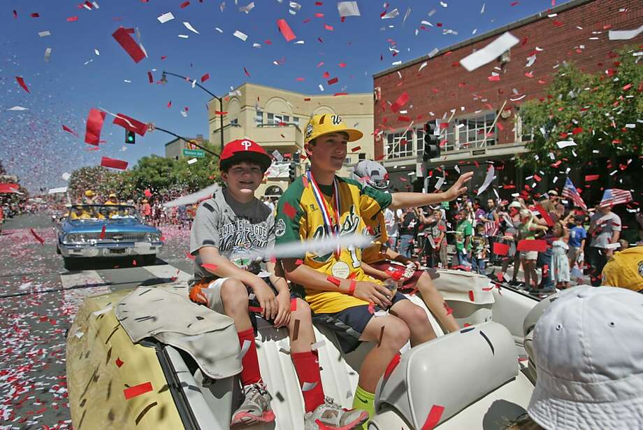A parade through the streets of Petaluma is one of many festivities in the town to salute the team. Photo: Mathew Sumner, Special To The Chronicle