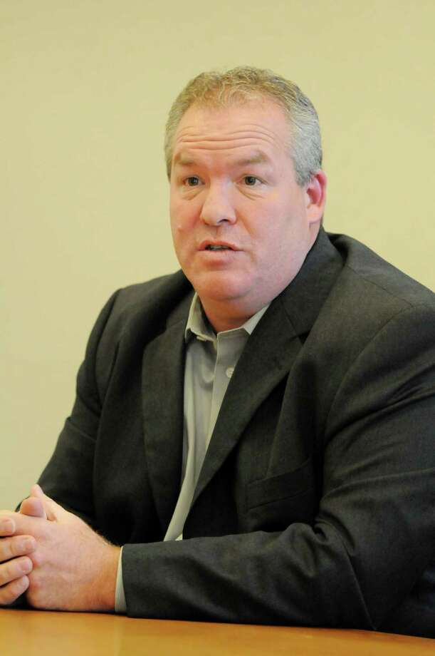 Shawn Morse, a Democratic primary candidate for the 44th Senate District, speaks during a meeting with the Times Union editorial board, Thursday Aug. 30, 2012, at the Times Union in Colonie, N.Y. (Will Waldron / Times Union) Photo: Will Waldron