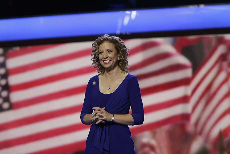 Democratic National Committee Chair, Rep. Debbie Wasserman Schultz, D-Fla.  the Democratic National Convention in Charlotte, N.C., on Sunday, Sept. 2, 2012. (AP Photo/Lynne Sladky) Photo: Lynne Sladky, Associated Press
