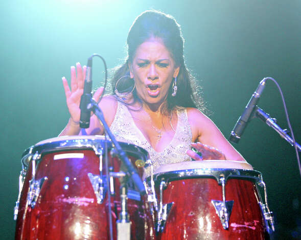 Sheila E. performs during Festival People en Español held Sunday Sept. 2, 2012 at the Alamodome. Photo: Edward A. Ornelas, San Antonio Express-News / © 2012 San Antonio Express-News