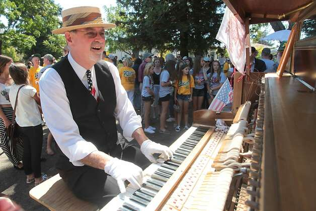 John Maher plays the piano during a celebration for the Petaluma Little League team's third place finish in the Little League World Series in Petaluma, Calif. on Sunday, September 2, 2012. Photo: Mathew Sumner, Special To The Chronicle