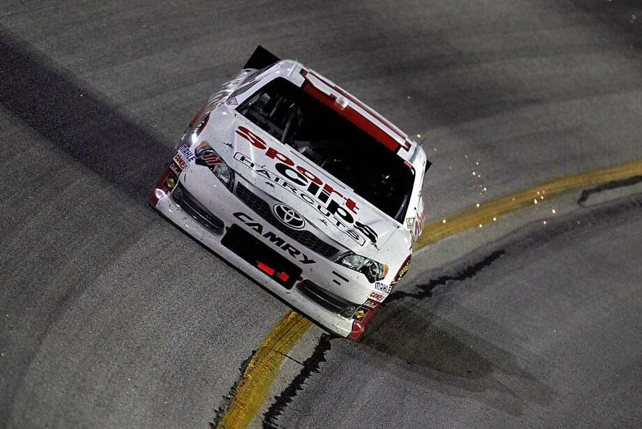 Denny Hamlin's win in Atlanta was his fourth of the season. Photo: Tyler Barrick, Getty Images