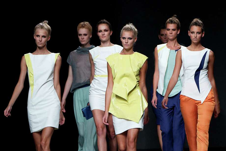 Models walk the runway in the Sara Coleman fashion show. Photo: Carlos Alvarez, Getty Images / 2012 Getty Images