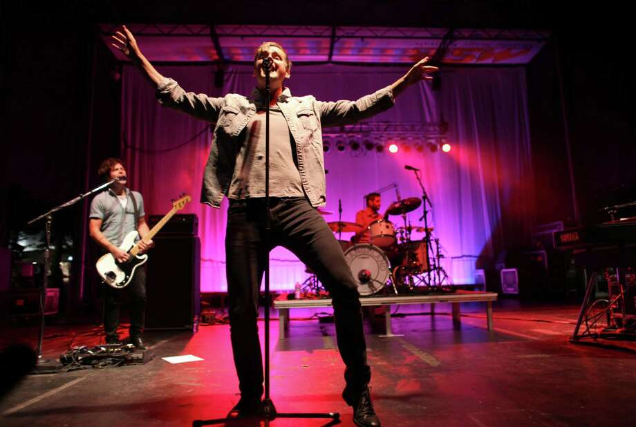 Tom Chaplin, vocalist for the band Keane, performs on the TuneIn Fisher Green Stage during Bumbershoot on Sunday. Photo: JOSHUA TRUJILLO / SEATTLEPI.COM