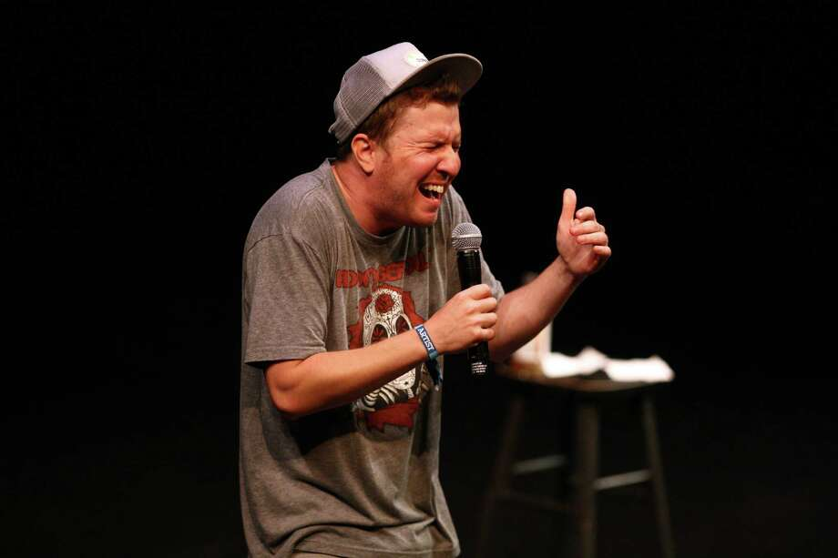 Comedian Nick Swardson performs on the seattlepi.com Intiman Stage during Bumbershoot. Photo: JOSHUA TRUJILLO / SEATTLEPI.COM