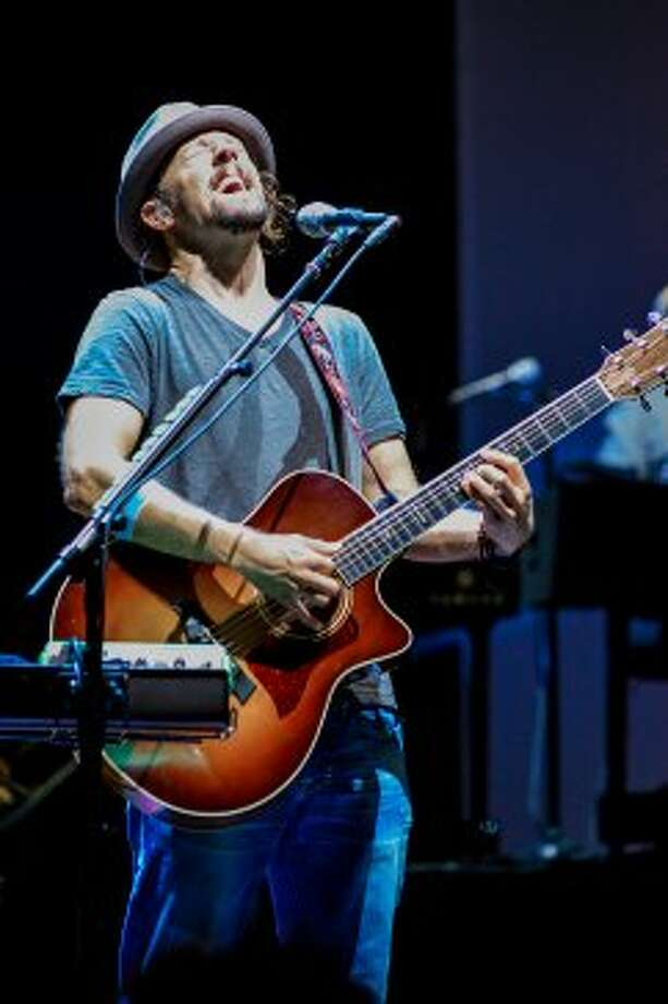 Jason Mraz performs Sunday night, Sept. 2, 2012, at the Saratoga Performing Arts Center in Saratoga Springs. (Shawn Morgan / Special to the Times Union)