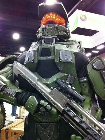 "Master Chief from the ""Halo"" video game franchise. The character returns this fall in ""Halo 4."" Picture taken at the GameStop Expo at the Convention Center. Photo: Rene A. Guzman"