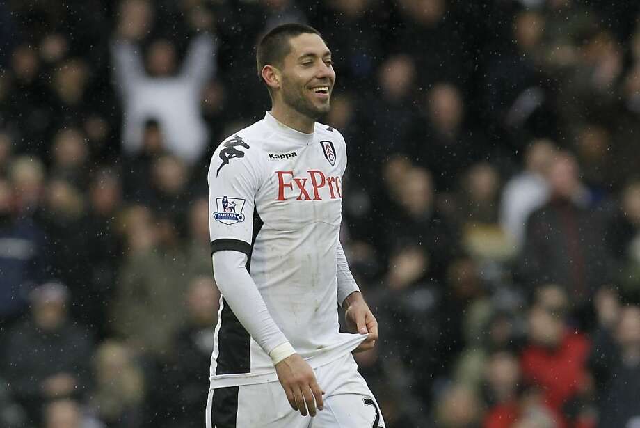 Fulham's Clint Dempsey reacts as he plays against Wolverhampton Wanderers during their English Premier League soccer match at Craven Cottage, London, Sunday, March 4, 2012. (AP Photo/Sang Tan) Photo: Sang Tan, Associated Press