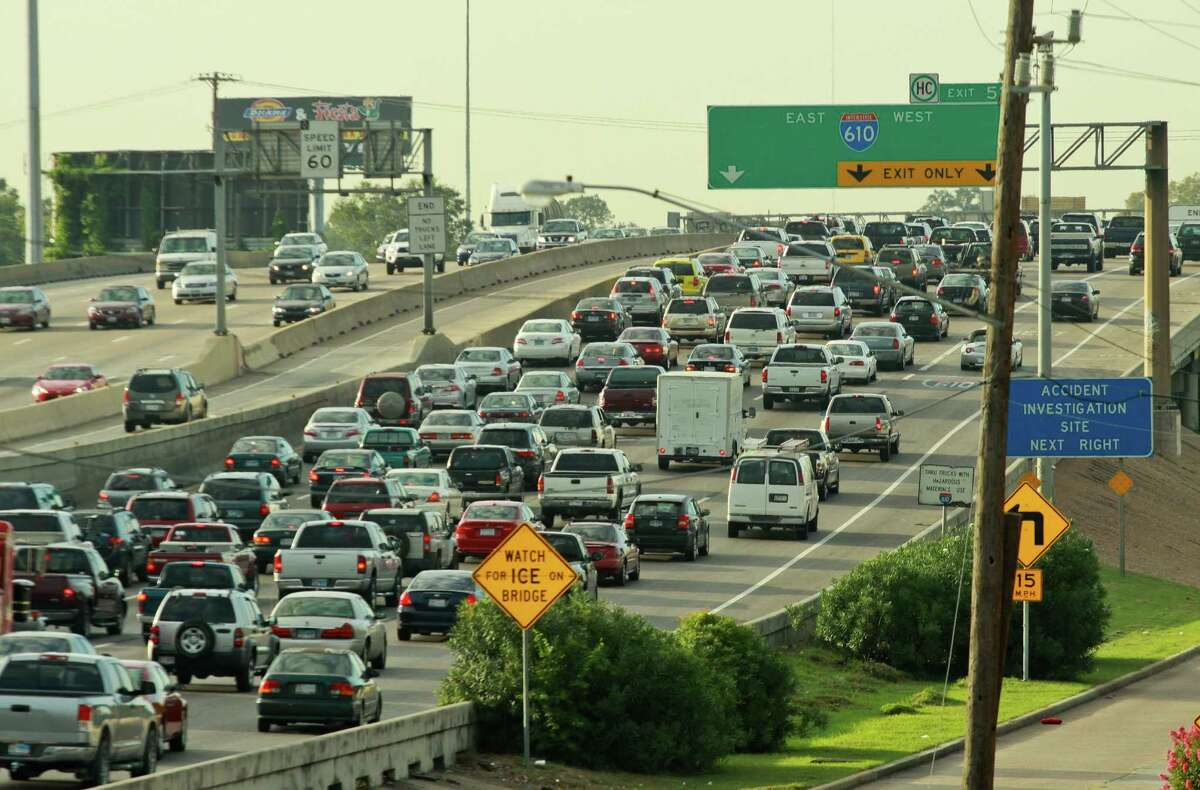 Rush hour congestion like this heading downtown on the North Freeway north of Loop 610 is the target of local transit officials.