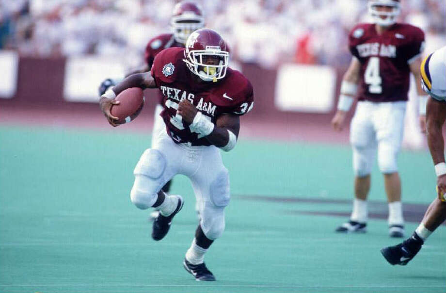 Leeland McElroy had the look of a Heisman Trophy candidate when A&M faced Colorado in 1995. Photo: Getty Images