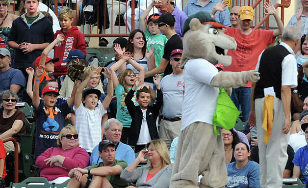 ValleyCats fans scream to get a prize during a baseball game against Hudson Valley at Joe Bruno Stadium Monday, Sept. 3, 2012 in Troy, N.Y. (Lori Van Buren / Times Union) Photo: Lori Van Buren
