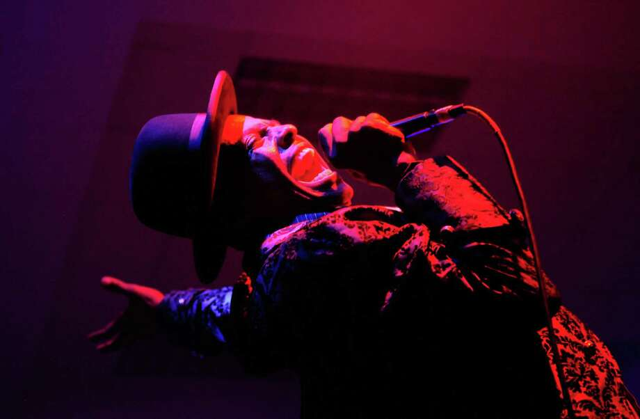 Angelo Moore of Fishbone throws his head back as he sings at the Exhibition Hall. Photo: LINDSEY WASSON / SEATTLEPI.COM