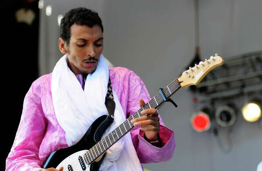 Bombino plays at the TuneIn Stage on the Fisher Green at Bumbershoot.