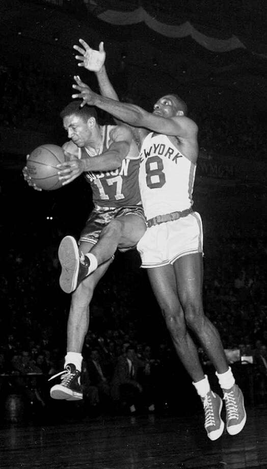 DON BARKSDALE -- Barksdale (above, left) was the first African-American to make the NCAA All-Star team, U.S. Olympic squad and NBA All-Star roster.