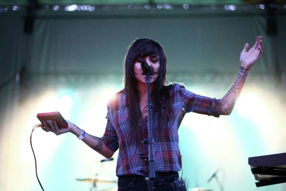 Canadian electro-pop musician Lights performs on the Fisher Green Stage. Photo: JOSHUA TRUJILLO / SEATTLEPI.COM