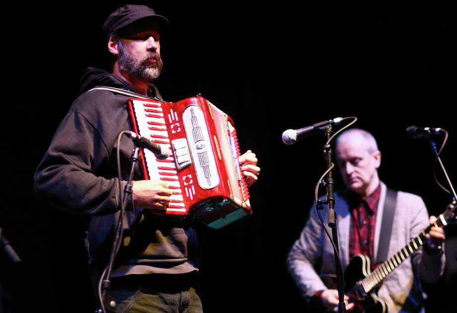 Guest musician Krist Novoselic performs on the accordion with The Vaselines on the Sub Pop Stage. Photo: JOSHUA TRUJILLO / SEATTLEPI.COM