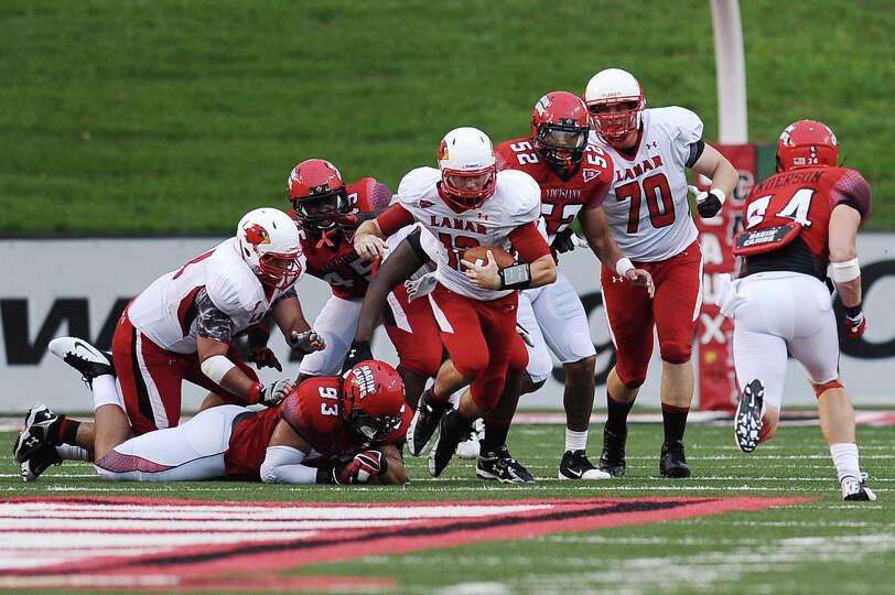 Football game between Lamar University and Louisiana-Lafayette at Lafayette on Saturday, September 1