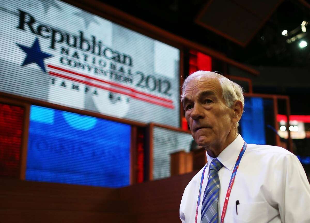 TAMPA, FL - AUGUST 28: U.S. Rep. Ron Paul (R-TX) walks the arena floor during the second day of the Republican National Convention at the Tampa Bay Times Forum on August 28, 2012 in Tampa, Florida. Today is the first full session of the RNC after the start was delayed due to Tropical Storm Isaac. (Photo by Chip Somodevilla/Getty Images) (Chip Somodevilla / Getty Images)