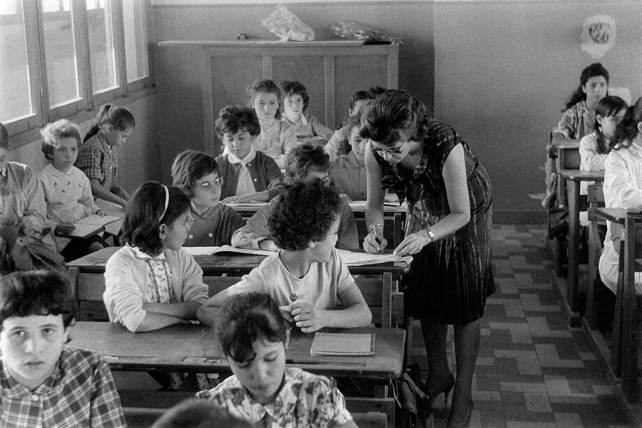 Here's the first day of school in Algiers, Algeria, on Oct. 15, 1962. Photo: AFP, AFP/Getty Images / 2012 AFP