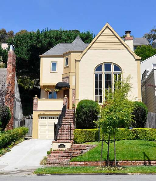 This French Normandy-style home at 298 Dorantes Ave. in S.F. has three bedrooms and 3.5 bathrooms ac