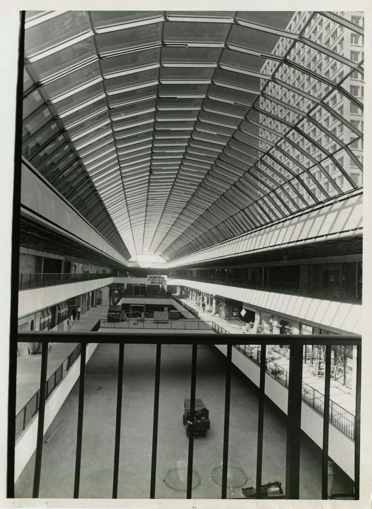 The Galleria as it appeared a couple of weeks before it opened Nov. 15, 1970, bringing three levels of shops, galleries and restaurants to Houston.