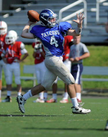 Fairfield Ludlowe High School plays a preseason scrimmage against Fairfield Prep Saturday, Sept. 1, 2012 at Alumni Field in Fairfield, Conn. Photo: Autumn Driscoll / Connecticut Post