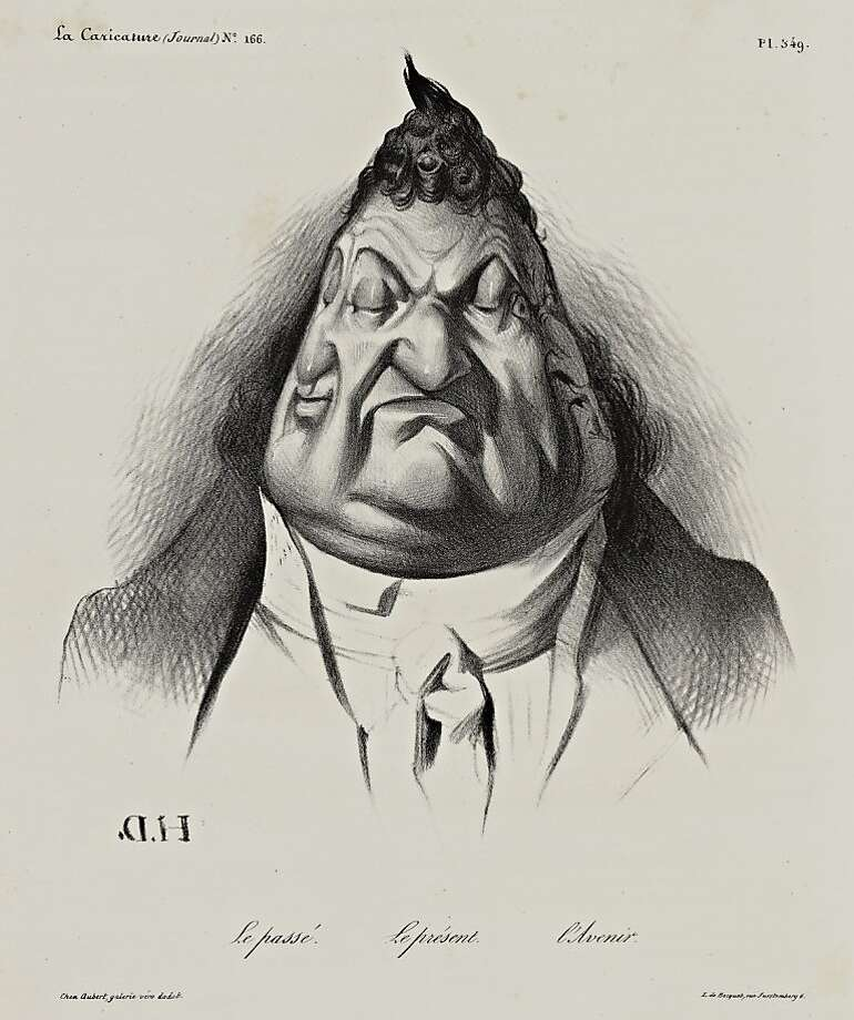 The past, the present, the future. (Le pass . Le pr sent. L Avenir.).  La Caricature, Plate 349 (Volume 7, Issue 166, January 9, 1834). Lithograph by Honor  Daumier Photo: Unknown