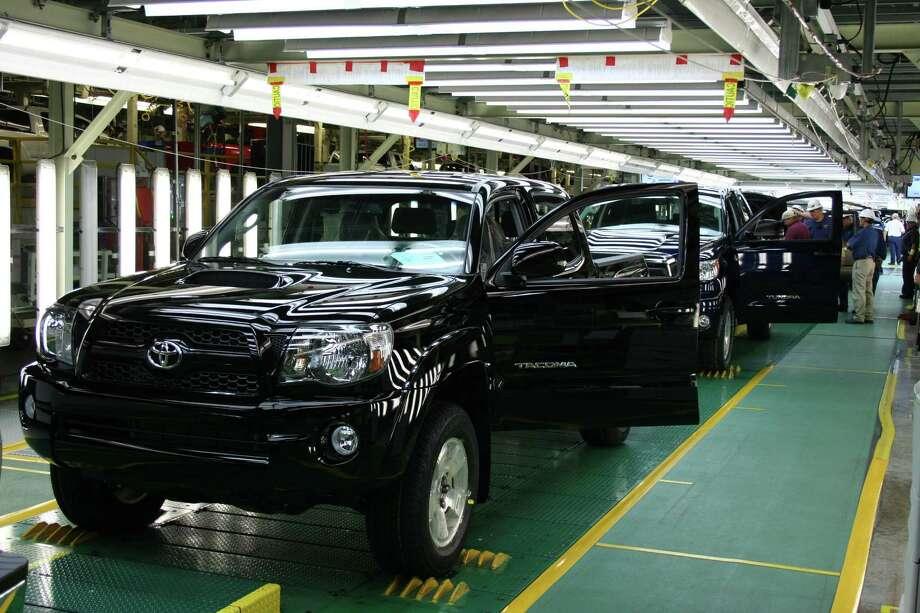 Toyota Tacoma pickup truck assembly line at San Antonio plant Photo: COURTESY PHOTO