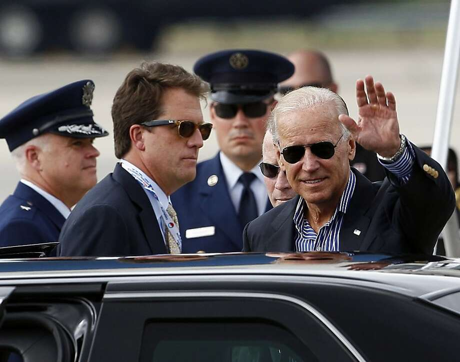 Vice President Joe Biden at the North Carolina convention. Photo: Gerry Broome, Associated Press