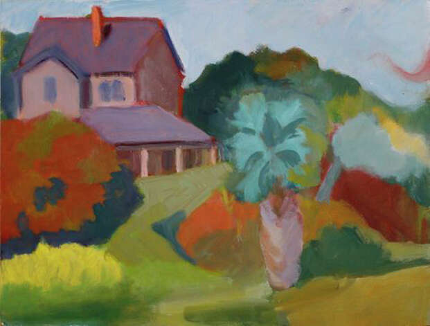 "Judith Lambertson's ""Dubois Cottage,"" an oil on panel, will be among the featured pieces in a gallery show at the Fairfield Library. Photo: Contributed Photo / Connecticut Post Contributed"