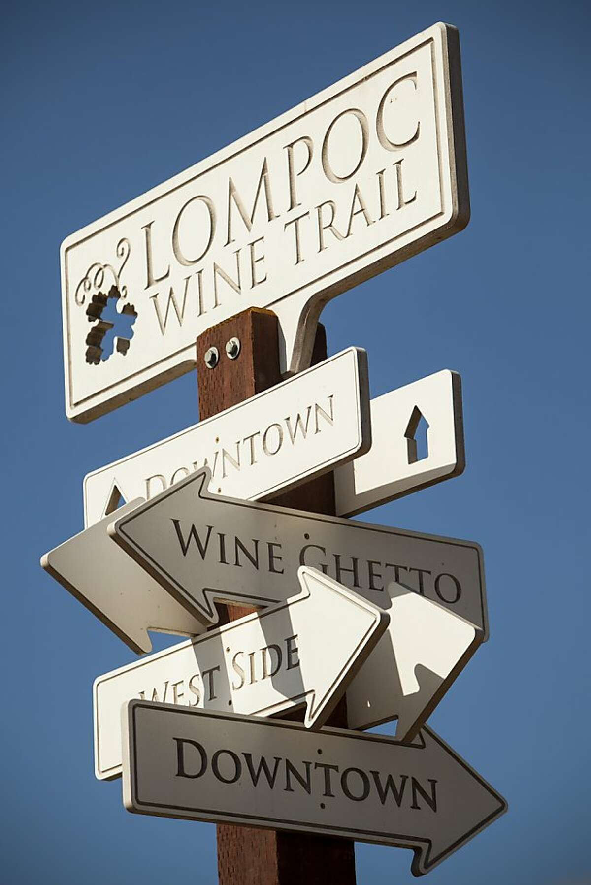 winemonth09_santabarbara Lompoc, CA - September 1, 2012 The city of Lompoc, located in Santa Barbara County is becoming known for the Lompoc Wine Ghetto, a unique two-block industrial complex which has been almost completely taken over by the wine industry. Nancy Pastor/SPECIAL TO THE CHRONICLE